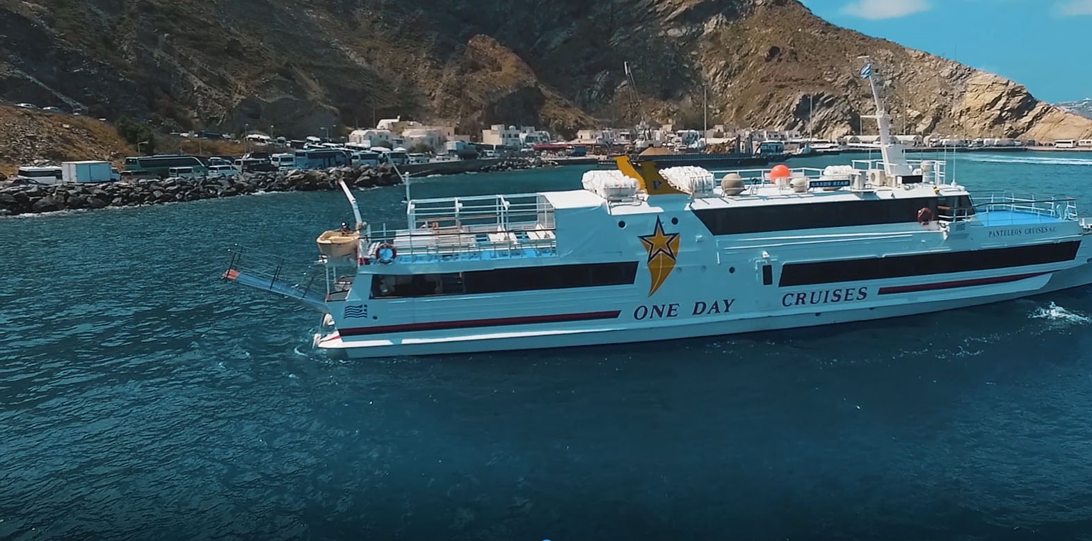 santorini daily cruise in french